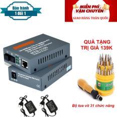convert quang single mode 10/100Mbs HTB-3100AB ( 1 cặp AB-xám)