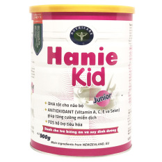 Sữa bột Hanie Kid Junior dành cho trẻ biếng ăn & suy dinh dưỡng 1-10 tuổi (900g)