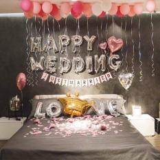 Set bóng bay trang trí phòng cưới có bộ bóng chữ LOVE size 40cm
