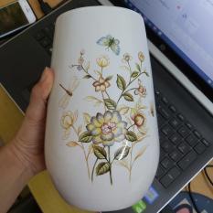 Bình cắm hoa gốm sứ bát tràng vẽ hoa nổi 3D, bình hoa thủy tinh, bình hoa trang trí, bình hoa để bàn sang trọng, tinh tế phong cách Châu Âu, cây hoa giả trang trí nhà cửa, nhà hàng, khách sạn, sân vườn