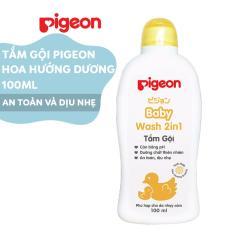 Tắm gội dịu nhẹ Pigeon 100ml Hoa Hướng Dương