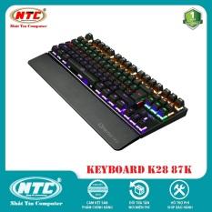 [TẶNG 10 BAO LÌ XÌ] Bàn Phím Cơ Game Thủ NTC K28 87K / K30 104K – Đèn Led nhiều chế độ (Đen) – 2 Phân Loại tùy chọn – Nhất Tín Computer