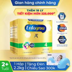 [FREESHIP TOÀN QUỐC]Hộp sữa bột Enfagrow 4 cho trẻ trên 2 tuổi 2.2kg (4 túi thiếc 550g) – Tặng 1 đèn chiếu sao trị giá 300k