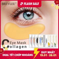 BREYLEE Mặt nạ mắt Collagen 24K Gold Eye Patch Xóa quầng thâm Túi mắt Nâng cơ săn chắc Chăm sóc mắt chống lão hóa 1 đôi