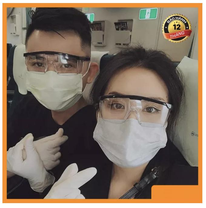 Mắt kính bảo vệ sức khỏe mùa dịch, phòng tránh virus Corona dùng cho cả nam và nữ