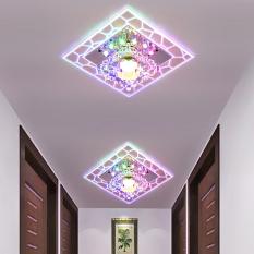 Đèn ốp trần họa tiết vuông pha lê LPVR03