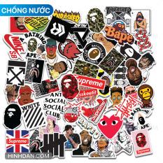 Sticker Hypebeast Mẫu Mới 2021 Bộ Hình Dán Hip Hop Chủ Đề Thời Trang Hiphop Underground Bape Supreme Off White A Bathing Ape Decal Nhựa Chất Lượng Cao, Chống Nước Tốt, Màu Sắc Đẹp In Rõ Nét