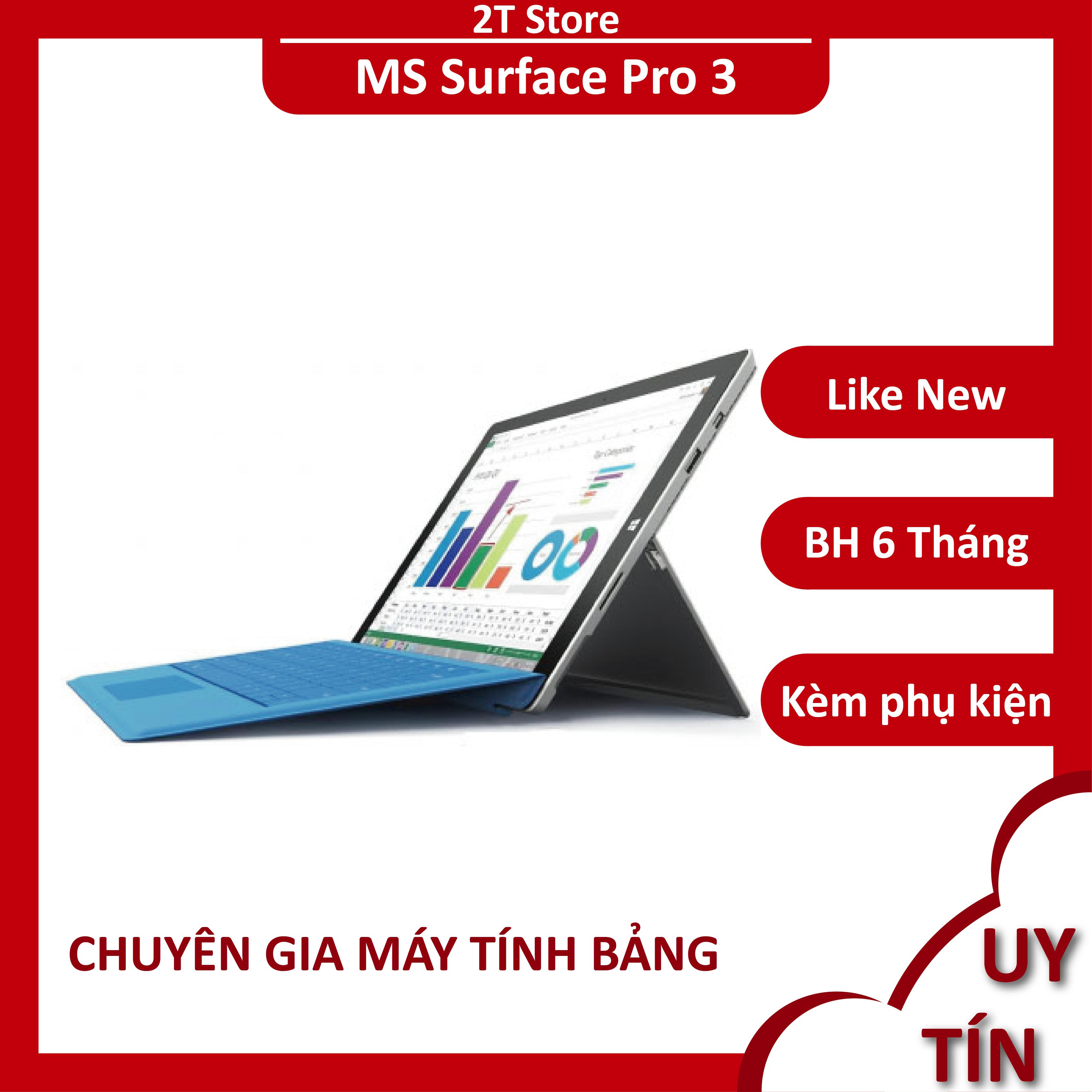 Laptop 2 in 1 Surface Pro 3 Core I5 kèm bàn phím cực tiện lợi