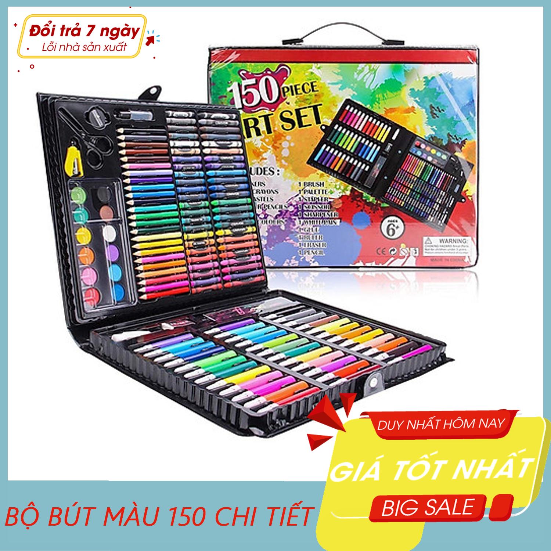 Bộ bút màu 150 món (Màu dạ, màu chì, màu nước), Bộ Màu 150 Chi Tiết Cho Bé-Bút màu, Đồ chơi cho bé – Bút màu cho bé – Hộp màu 150 chi tiết – Giao màu ngẫu nhiên