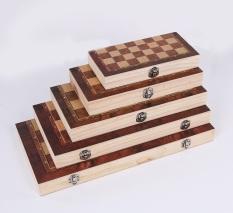 Bộ cờ vua bằng gỗ tiêu chuẩn quốc tế đủ size 3 in 1 – Hàng xuất Nga