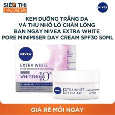 Kem dưỡng da trắng da và thu nhỏ lỗ chân lông ban ngày NIVEA Extra White Pore Minimiser Day Cream SPF30 50ml