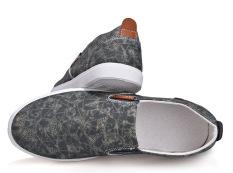 Giày Lười Vài Nam Xám