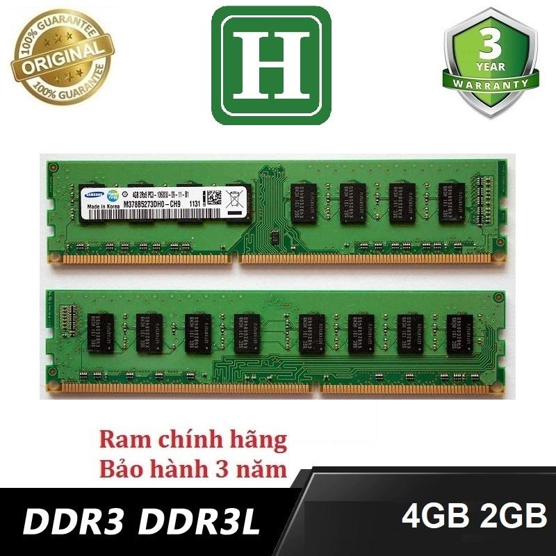 Ram PC 2GB, 4GB DDR3 Bus 1600 và một số loại khác, hàng zin chính hãng bảo hành 36 tháng