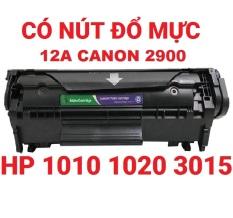 Hộp mực 12A LBP 2900 303 FX9 Có nút đổ mực Hộp mực Máy in LBP 2900 3000 HP Laser Jet 1010/1015/1020/3015/3020/3030/3050