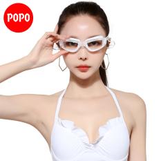 Kính bơi ánh kim có nút bịt tai POPO P1940 mắt kính bơi thể thao cản tia UV hạn chế sương mờ thiết kế thời trang