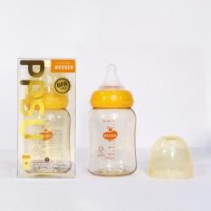 Bình sữa PPSU Wesser cổ hẹp 140ml, không chứa BPA