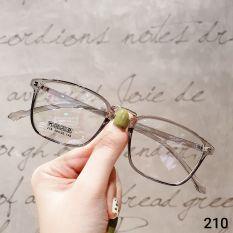 Kính cận nam nữ Lily Eyewear 210 mắt kính gọng vuông unisex có độ kính Hàn Quốc gọng kim loại mắt trong suốt giả cận kính thời trang, kính kèm tròng 0 độ nhận cắt kính cận kèm quà