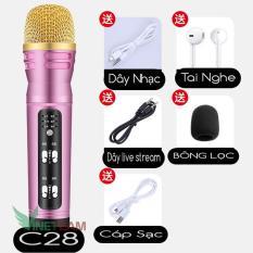 Micro C7 – Mic C11- micro C28 ( Loại 1, Đủ Phụ Kiện) , Thu Âm, Hát Karaoke, Livestream trên điện thoại 3 in 1 màu ngẫu nhiên ( Hàng chất lượng cao ) – Bh 3 Tháng