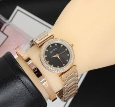 Đồng hồ nữ dây thép đặc cao cấp đính hạt Guou 8112T (bh 12 tháng)