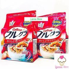 [HSD 12/2019] Ngũ cốc trái cây Calbee màu đỏ gói 800g – Nhật Bản