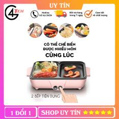 Nồi Lẩu Kiêm Nướng 2 in 1 Mini Hàn Quốc Đa Năng Cao Cấp Dùng Cho 1 -2 người ăn TVL006