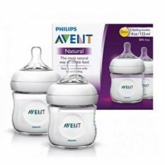 Bộ 2 bình sữa Philips Avent Natural 125ml / 260ml / 330ml bằng nhựa PP, không có BPA