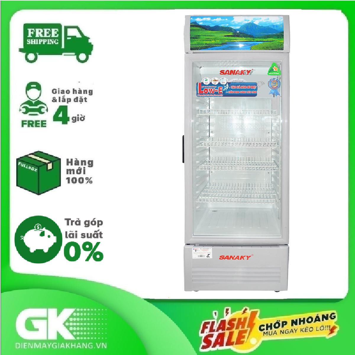 Tủ mát Sanaky 200 lít VH-258KL