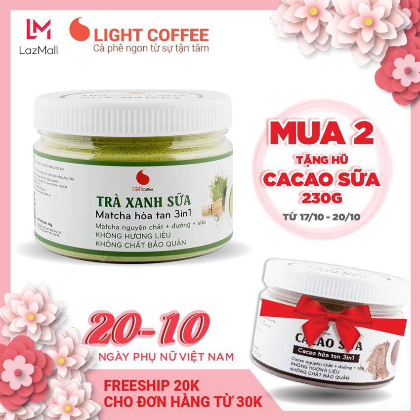 [MUA 2 TẶNG CACAO SỮA 230G] Bột trà xanh sữa , matcha sữa , matcha chính hãng Nhật Bản, thơm ngon , tiện lợi , đặc biệt không hương liệu , sản phẩm bán chạy , hũ 230g