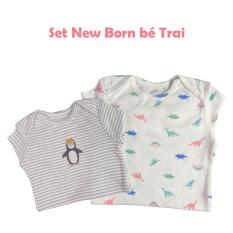 Set 3 bộ jumpsuit, bodysuit Carter's cho bé sơ sinh, bé trai và bé gái dài tay từ 0 – 24 tháng chất liệu cotton đã được xử lý