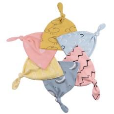 Mũ thắt nơ họa tiết cho bé trai và bé gái sơ sinh nhiều màu có chất liệu vải cotton mềm mại giúp bảo vệ vùng đầu của bé