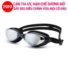 Kính bơi người lớn POPO 610 kính bơi nam, nữ kiểu dáng nhỏ gọn, chống UV, chống sương mờ
