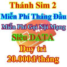 Thánh Sim 2 – Sim 4G Mới Miễn Phí DATA Không Giới Hạn- Duy Trì 20K/tháng Vietnamobile – Miễn Phí Gọi Nội Mạng