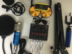 Combo micro thu âm BM900 + soundcar V8 bluetooth full phụ kiện Tặng kèm kẹp bạch tuộc và tai nghe SONY