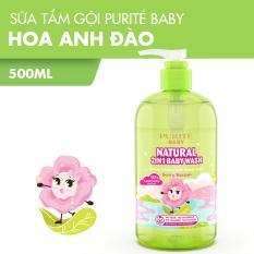 Sữa Tắm Gội Purité Baby Natural 2in1 Hoa Anh Đào