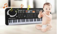 Đàn piano điện tử 61 phím cho bé yêu, đồ chơi trẻ em, đồ chơi âm thanh, đồ chơi năng kiếu, dùng được điện lẫn pin, quà tặng cho bé.