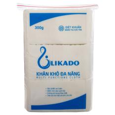 Khăn khô đa năng cho bé Likado 300g gấp tư 14x20cm (1 gói)