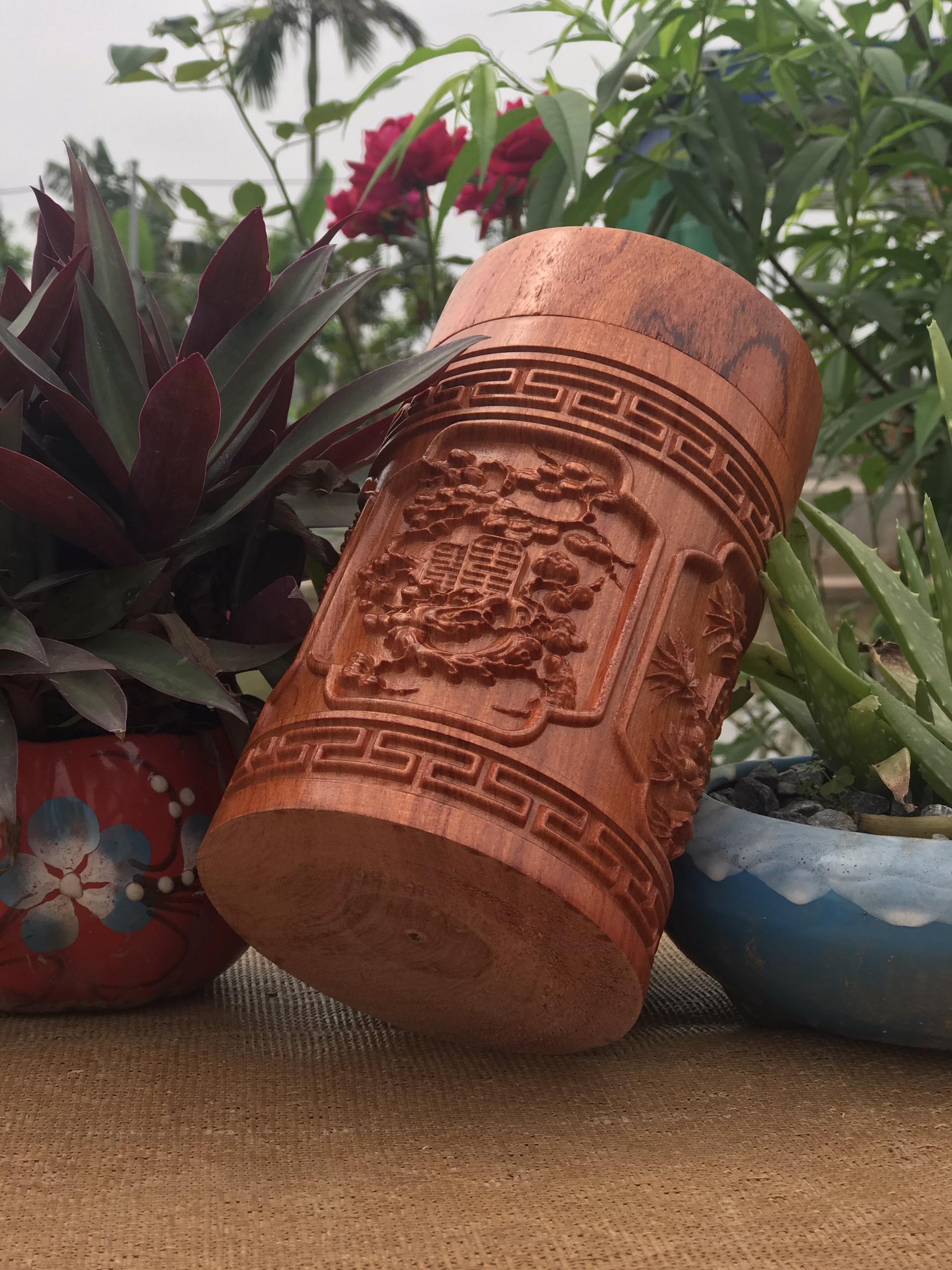 Hộp đựng chè gỗ hương đỏ Nam Phi dùng trang trí bàn tiếp khách , quà tặng . Nhiều mẫu...