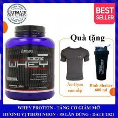 Sữa tăng cơ Prostar 100% Whey Protein của Ultimate Nutrition hộp 80 lần dùng hỗ trợ tăng cơ giảm cân, giảm mỡ bụng, tăng sức bền sức mạnh vượt trội cho người tập GYM và chơi thể thao – Phân phối chính thức