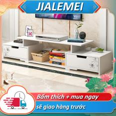 Tủ TV kệ tivi màu trắng có thể co giãn độ dài khoảng từ 90-120cm tủ bày tivi đơn giản thời trang nhỏ gọn