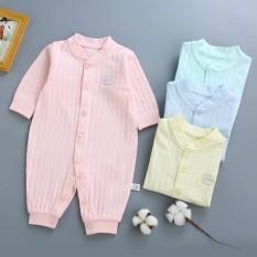 Body liền thân dài tay cotton cho bé trai bé gái sơ sinh 3-10kg, hàng xuất Hàn