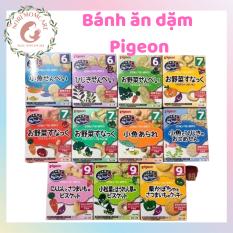 [HCM] Bánh ăn dặm Pigeon chính hãng nội địa Nhật Bản cung cấp dinh dưỡng cho bé từ 6 đến 9 tháng tuổi