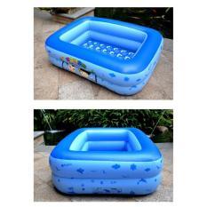 [Phí ship rẻ] Bể bơi phao cho bé hình chữ nhật họa tiết dễ thương (Kích thước 120 x 95 x 35 cm) giúp bé tập bơi và vui chơi trong thời tiết nắng nóng – có tặng kèm keo và miếng vá – G12