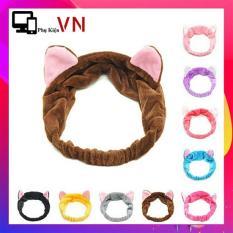 [ Bán Chạy ] Băng Đô Tai Mèo Siêu Xinh – Bờm Tóc – Băng Đô Rửa Mặt (Nhiều Màu)