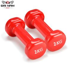 Bộ Cặp Tạ Tay 1kg Bọc Cao Su Trơn Nhập Khẩu Đại Nam Sport (Tổng 2kg)