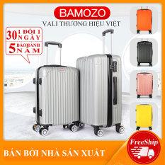 Vali du lịch BAMOZO 8801 nhựa cao cấp – Bảo hành 5 năm