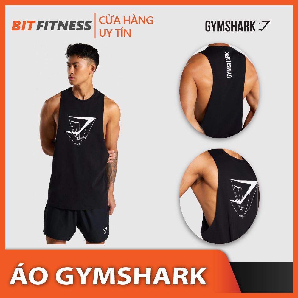 [100% cotton] Áo ba lỗ Gymshark cao cấp – Áo Tanktop tập Gym khoe xô – BiT Fitness