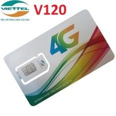 Sim 4G VIETTEL Gói V120 – Khuyến Mại 2Gb/Ngày, Nghe Gọi Nội Mạng, Ngoại Mạng Miễn Phí
