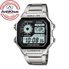 Đồng hồ nam dây kim loại Casio Anh Khuê AE-1200WHD-1AVDF