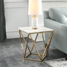 Bàn trà – bàn sofa – bàn cafe- bàn đá đa năng – Bàn đá vuông mặt kính cao cấp phong cách hiện đại , Bàn decor trang trí phòng khách , quán cafe, nhà hàng, quầy bar DH-BQC004