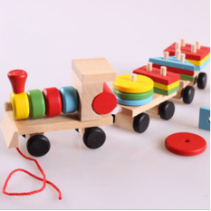 Bộ đồ chơi xe lửa bằng gỗ cho bé